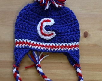 Cubs hat, chicago cubs hat, youth cubs hat, baby cubs hat