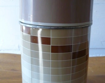 Vintage King Seeley Metal Thermos 10oz Brown Tan