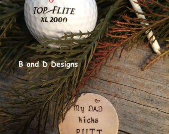 Father of the Bride or Father's Day! Golf markers for that special man in your life.