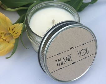 24 Thank You Soy Candles for Parties, Wedding Favors, Corporate Gifting, Etc.