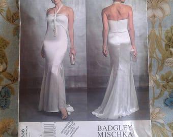 Vogue American Designer Pattern.  Badgley Mischka.  Misses Evening Dress.  Petite.  Advanced.  Size 12-14-16.  Pattern No. V2838.