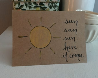 Sun - Hand Illustrated Blank Card