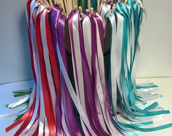 Wedding Wand Package - Includes 100 Wands with Ribbons and Engraving