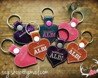 Quarter Keeper, Aldi, Aldi Keychain, Aldi heart, I love Aldi, Aldi quarter holder