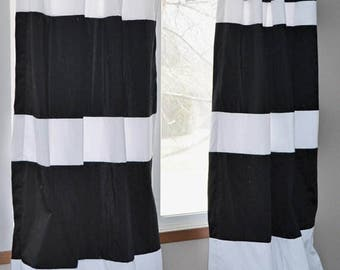 View Custom Striped Curtains by FrostingHomeDecor on Etsy