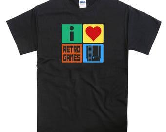 I Love Retro Games Nintendo NES Tshirt