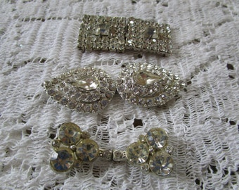 PRICE REDUCED: Vintage Rhinestone Belt Buckles