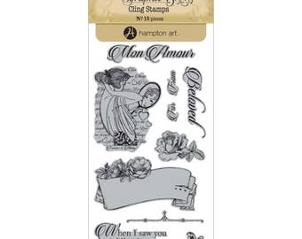 Graphic 45 MON AMOUR 1 Cling Stamps IC0344S cc72