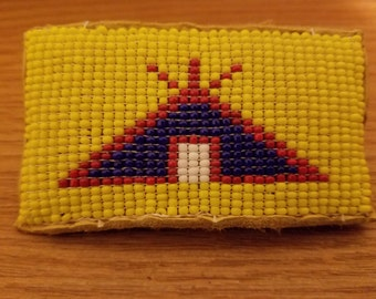 Tee Pee Beaded Hair Barrette