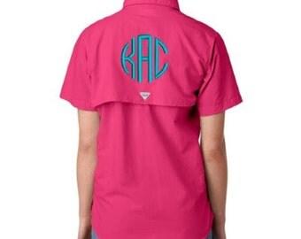Pfg fishing shirt etsy for Custom embroidered columbia fishing shirts