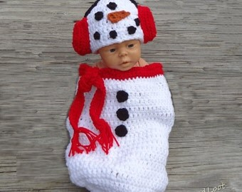Baby Christmas Outfit Newborn Christmas Outfit Baby Snowman Outfit Newborn Snowman Outfit Frosty Snowman Crochet Baby Outfit  Costume