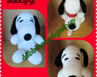 Snoopy stuffed animal, Crocheted - made to order