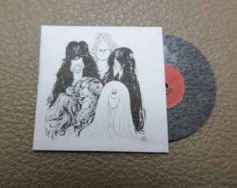 Record Album Aerosmith Draw the Line - dollhouse miniature 1:12 scale