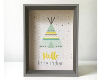 Poster {Hello little indian}