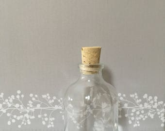 300 Small Glass Bottles with corks for Wedding Favours Corporate Events