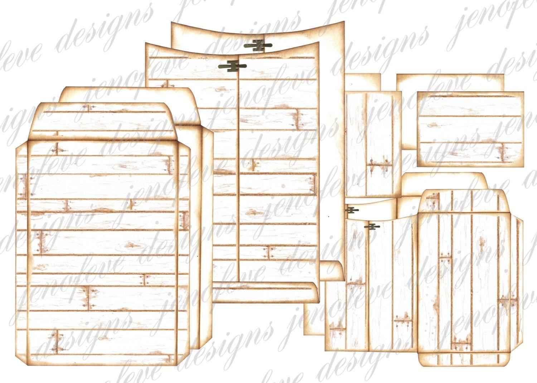 6x9 printable envelope album wood plank plain templates. Black Bedroom Furniture Sets. Home Design Ideas