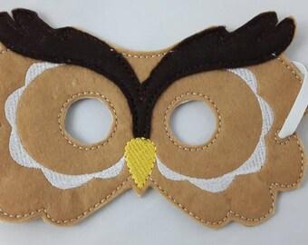 Woodland Mask, Owl Mask