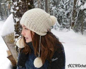 Snow Angel - Crochet Hat Pattern - Winter Hat Crochet Pattern - Easy Hat Crochet Pattern -  Multiple Size Crochet Hat Pattern