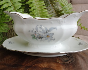 Wildflower Porcelain Dishes - 7 Pieces
