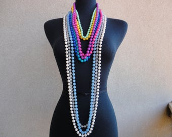 Lot of Beaded Vintage Necklaces