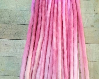 Custom Wool Dreads Handmade Hair Extensions Wool Dreads Ombre Hair Accessories Set of 20