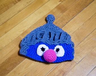 SUPER GROVER Muppet Beanie PATTERN