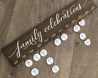 Family Celebrations Board