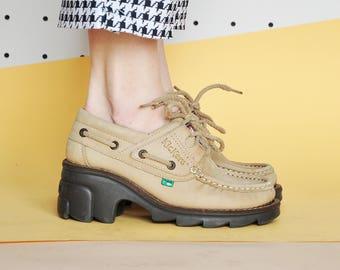 90s CHUNKY oxfords KICKERS oxfords GRUNGE oxfords rave oxfords club kid oxfords rave sandals platform sneakers Size 7 us / 4.5 uk / 37.5 eu