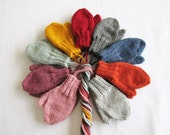 Toddler Lambs Wool Mittens on String, Age 1-2 or 2-4 Yrs, Choice of Colors, Seamless, Thick/Warm/Cozy/Soft Hand Warmers-READY TO SHIP