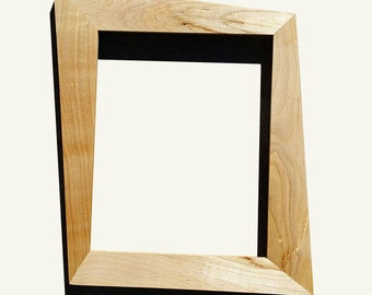 Trapezoid Mid Century Modern Picture Frame Made With Maple