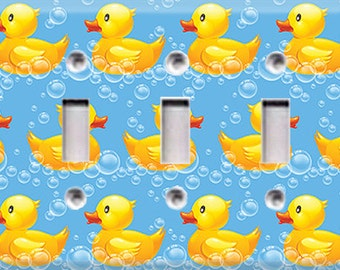 Rubber Ducky Triple Light Switch Cover