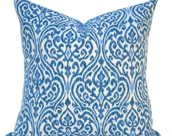 One Waverly Srilanka Ikat blue pillow covers, cushion, decorative throw pillow, decorative pillow, accent pillow