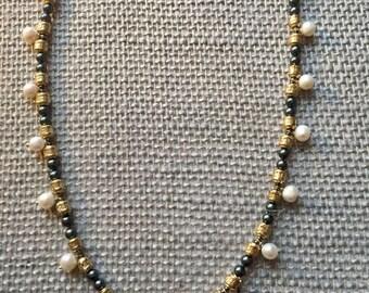 Petite White pearl Necklace