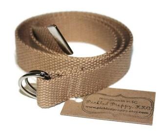 Khaki Cotton Adjustable Belt for Children/Toddlers