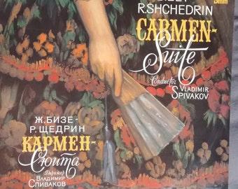 """Vladimir Spivakov Carmen-suite G. Bizet - R. Shchedrin 1985 stereo LP """"Melodia"""" Russian"""