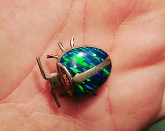 Opal Lady Bug Pendant/Pin
