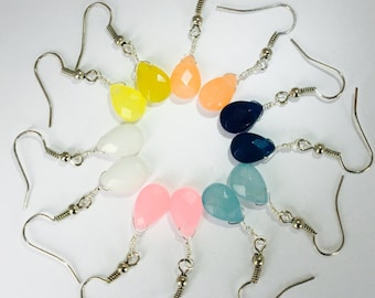 Jade earrings (dyed)