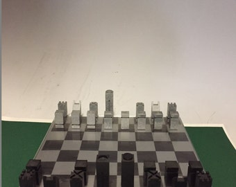 Contemporary Chess Set by Gad Almaliah