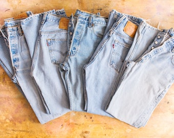 ALL SIZES Vintage Levi's Button Entry High Waisted Boyfriend Relaxed Fit  34 x 32  USA Made Levis 28 29 30 31 32
