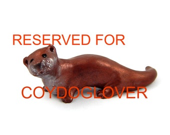 Otter Figurine, 'Rusty' Hand-Sculpted Polymer Clay Otter Pendant