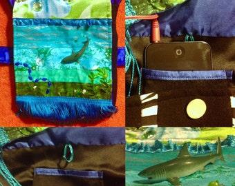 Shark Frankenbag w/ turquoise fringe