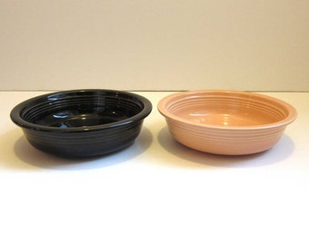 sale vintage hlc fiesta ware coupe cereal soup bowls made in usa - Fiestaware Sale
