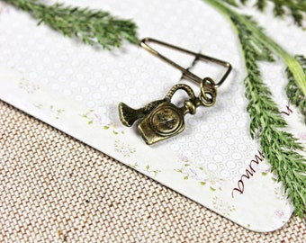 paperclip FLACON bronze vintage style paper clip bookmark perfume