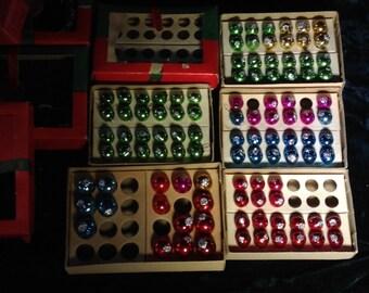 101 Vintage Antique SANTA CREATION Mercury Glass Christmas Tree Miniature Ornaments Made in Japan!