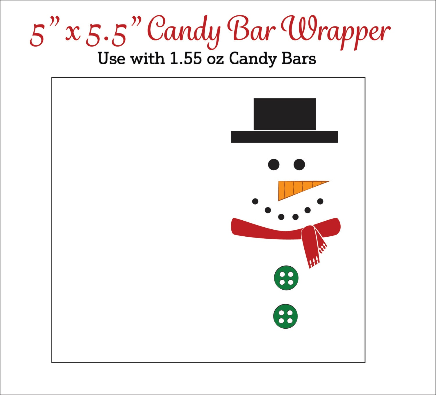Epic image within free printable christmas candy bar wrappers