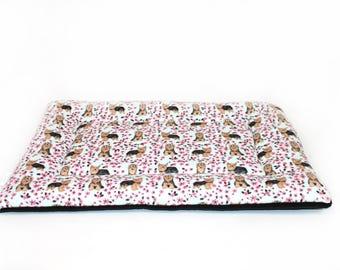 SALE YORKIE dog bed, CUSTOM fleece, crate pad, crate bed