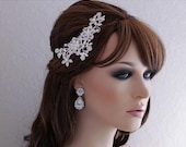 Bridal Hair Comb Crystal Floral Headpiece Bride Accessory Hair Accessories Wedding Weddings Jewelry Hairpiece Head Piece Party Prom Gift