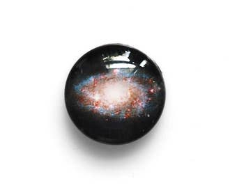18mm handmade galaxy glass cabochon - Space cabochon - Standard profile - jewelry supplies