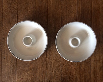 Royal Copenhagen Fajance Ceramic Candle Holder Pair