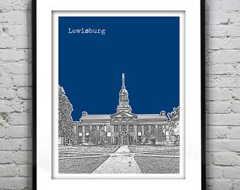 Lewisburg Skyline Poster Art Print Pennsylvania PA Version 1